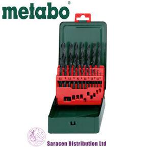 Metabo-HSS-R-19-Pezzi-Trapano-Set-in-Custodia-in-metallo-627151000