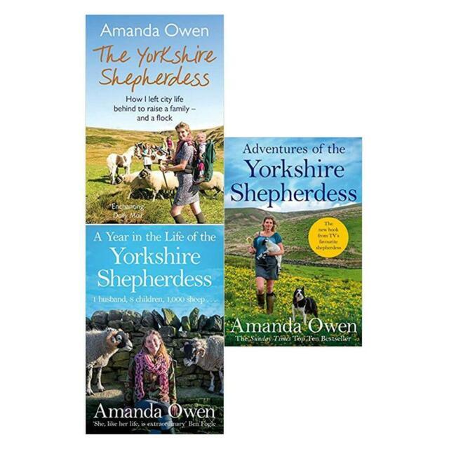 Amanda Owen 3 Books Set Collection The Yorkshire Shepherdess NEW
