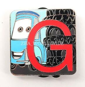 Details About New Disney Pixar Alphabet Mystery Pin Series Lr Letter G Guido Cars