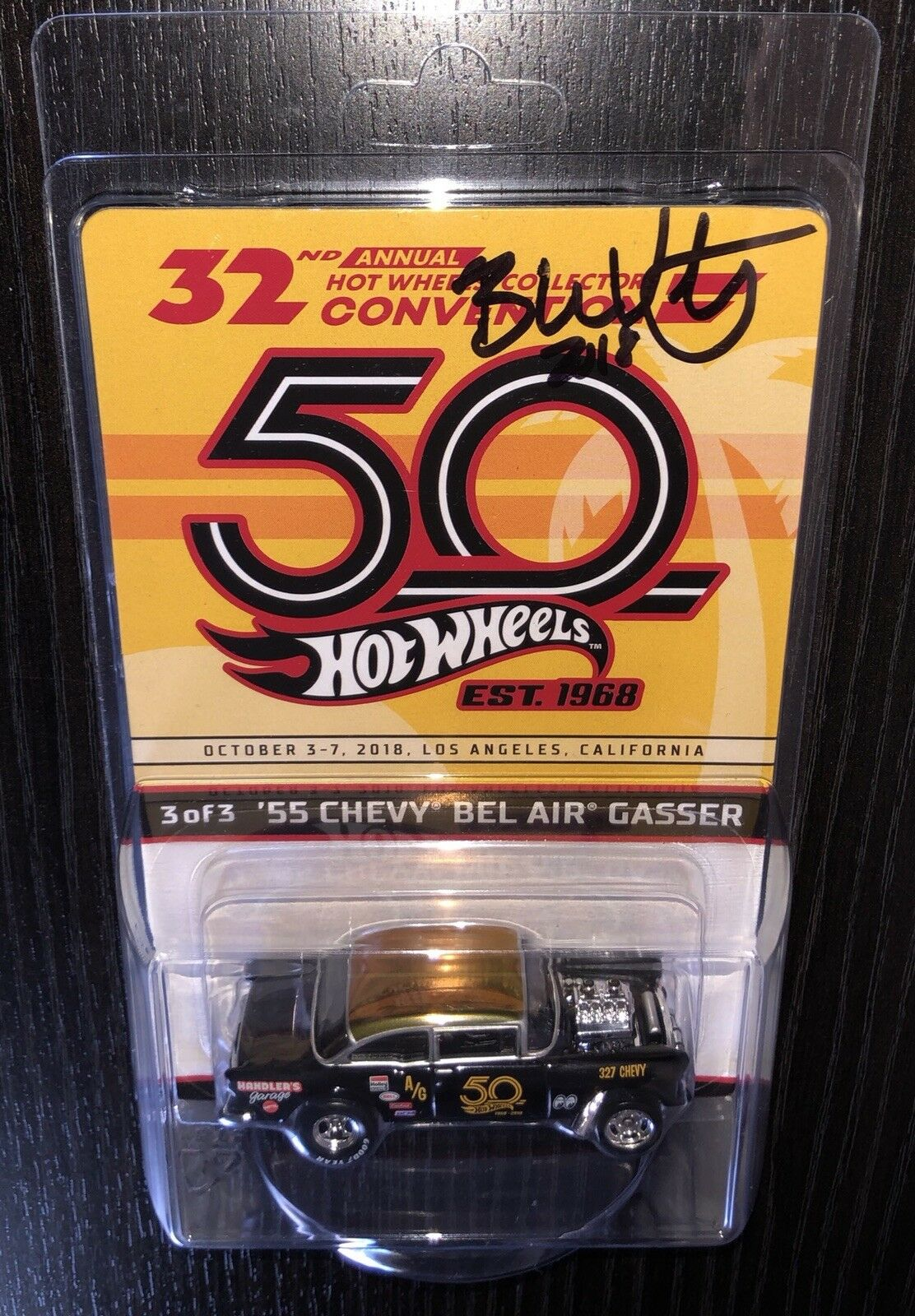 HOT WHEELS 32nd 32nd 32nd COLLECTORS CONVENTION '55 CHEVY BEL AIR GASSER FINALE AUTOGRAPH  87d9fc