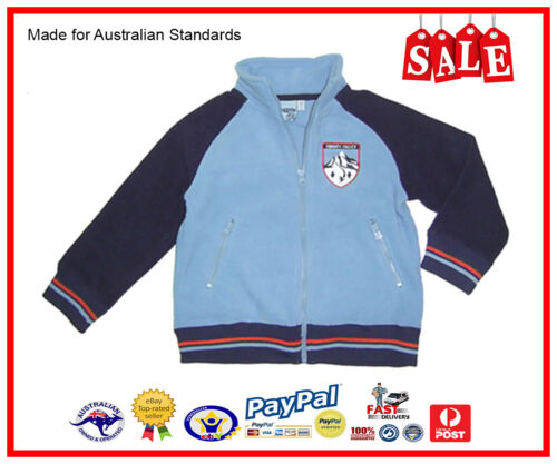 GENUINE AUS LICENSED Kids Boys Polar Fleece Zip Jacket With Pockets-SALE