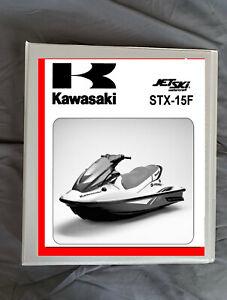 2012 Kawasaki STX-15F JT-1500 jet ski Service repair workshop manual binder