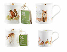 NATIONAL Trust. New Forest Toile. Set di 4 Fine China Tazze-Woodland Animali