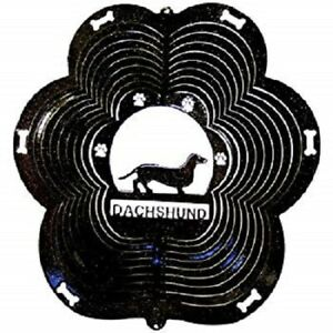 DOG-BREED-Choice-of-11-Breeds-WIND-SPINNERS-Black-Stainless-Steel-USA