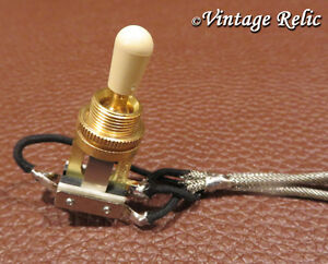 Short frame Wired Toggle Switch 3 way Switchcraft GOLD USA fits Gibson Epiphone