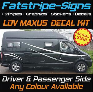 LDV MAXUS MOTORHOME GRAPHICS STICKERS DECALS STRIPES CAMPER - Graphics for caravanscaravan stickers ebay