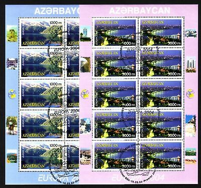 1191 Asia Aserbaidschan 573/74 O Kb-satz Europa 2004 Michel 45,00