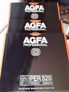 AGFA PER 525 PROFESIONAL 1000m 3280ft Professional Studio Tape - España - AGFA PER 525 PROFESIONAL 1000m 3280ft Professional Studio Tape - España