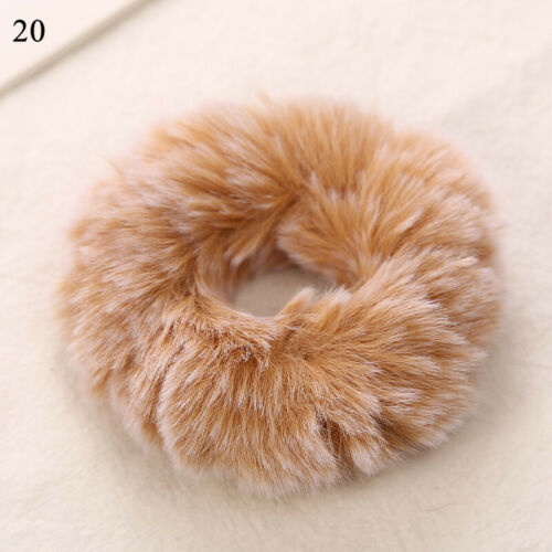 Details about  /Women Plush Scrunchies Hair Tie Ring Rope Warm Elastic Head Band Ponytail Holder