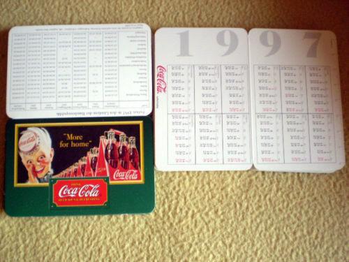 """Taschenkalender von COCA COLA 12x 9 cm 1997 Motiv /""""MORE FOR HOME/"""" NEU Falt"""