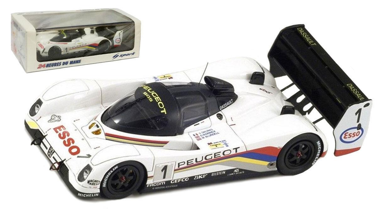 SPARK 43lm92 Peugeot 905   1  TALBOT SPORT  LE MANS WINNER 1992-SCALA