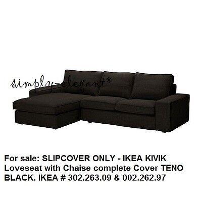 Enjoyable Ikea Kivik Cover For Ikea Kivik Sectional Loveseat Sofa With Chaise Teno Black Ebay Uwap Interior Chair Design Uwaporg