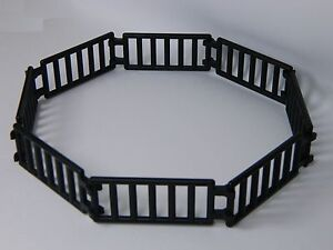 LEGO LADDER / FENCE BLACK (pack of 16) double clip castle
