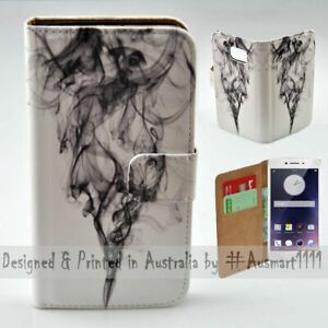 For-OPPO-Series-Black-Smoke-Theme-Print-Wallet-Mobile-Phone-Case-Cover