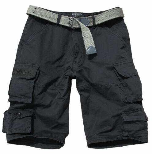Bermuda Cargo shorts uomo con tasconi multitasche laterali militari Fun Coolo