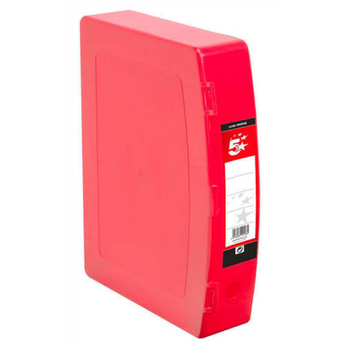 5 Star Office Box File Polypropylene with Twin Clip Lock Foolscap ...