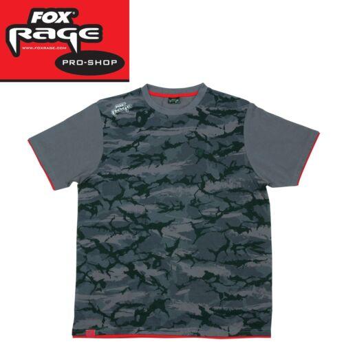 Angelshirt zum Spinnfischen Fox Rage Camo T Shirt Angelhemd für Spinnangler