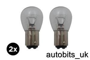2x-Transparente-estandar-Bay15d-P21-5w-posterior-del-coche-deja-cola-Luz-de-freno-automatico