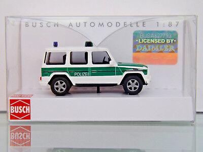 """1990 /""""Bundesgrenzschutz/"""" 1:87//H0 NEU//OVP Busch 51416 Mercedes-Benz G-Klasse"""