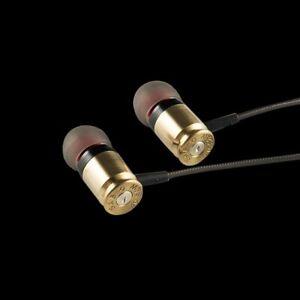 Real Bullet Munitions In Ear Earphones Headphones with Mic Federal 40 SICARIO