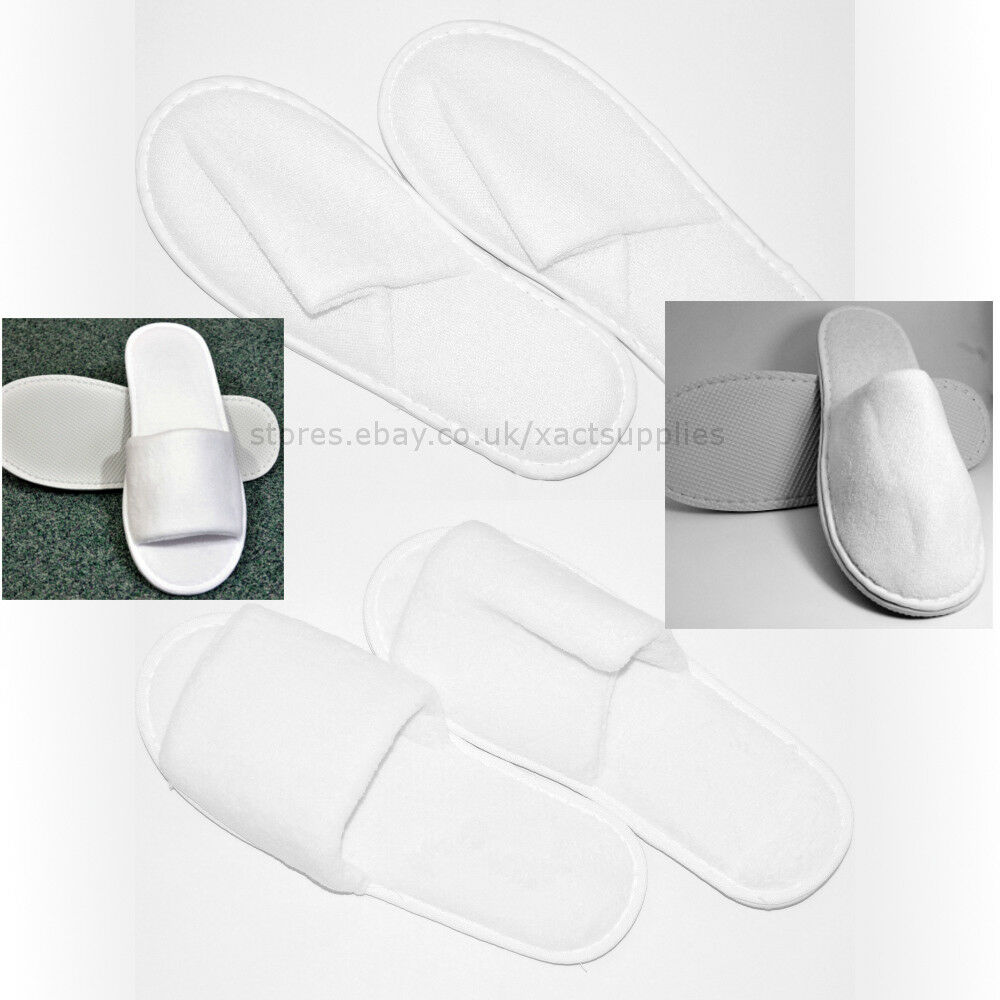 30/50/100 Pairs Open Unisex Open Pairs / Close Toe Terry Towelling Slippers: Hotel Supplies fc1b99