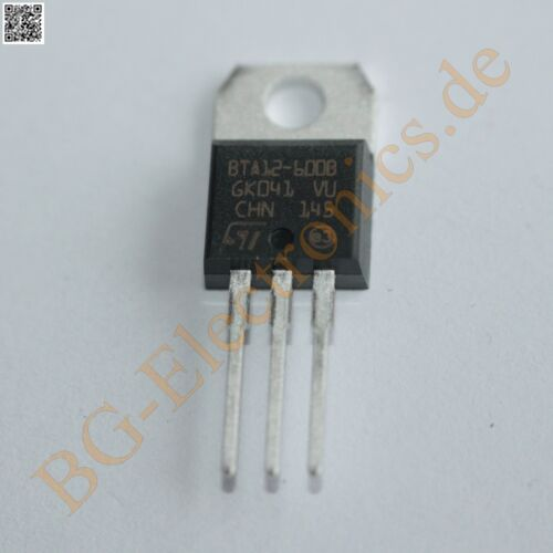 2 x BTA12-600B TRIAC STM TO-220 2pcs