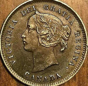 1897-CANADA-SILVER-5-CENTS-COIN-Narrow-8-Excellent-example