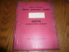 Grove Hydraulic Cranes Parts Catalog - Model 688 FFWCE