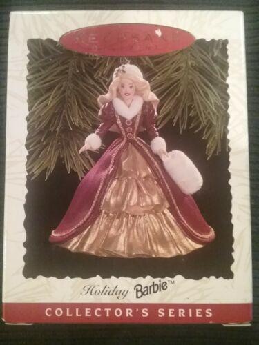 1996 Holiday Barbie Hallmark Keepsake Ornament #4 Holiday Barbie Series