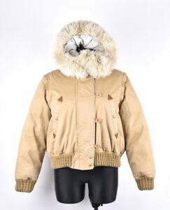 Timberland-Women-Down-Hooded-Sand-Warm-Jacket-Bomber-Size-EUR-42-UK-12