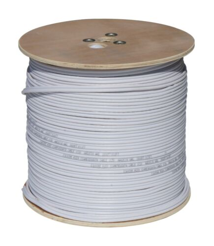 1000FT CCTV CAMERA WIRE RG59 COAX//RS485//POWER PTZ DATA 18//4 SIAMESE CABLE White