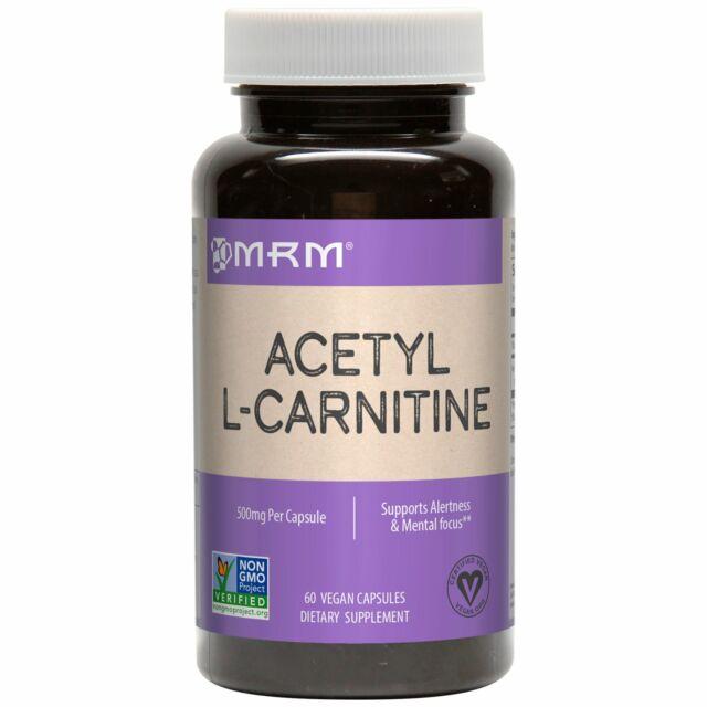 Acetyl LCarnitine L-Carnitine ALCAR 500mg 60 Caps Focus Memory cAMP energy