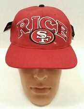 Vintage Starter San Francisco SF 49ers Jerry Rice Snapback Men Cap Hat Red NWT