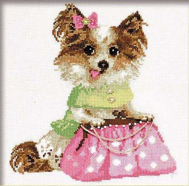 Puppy pug Counted Cross Stitch Kit GOLDEN FLEECE