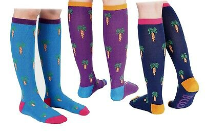 Offen Sale Were £16.50 Now £9.95 Bridleway Carrot Multi Pack Of 3 Comfort Riding Socks