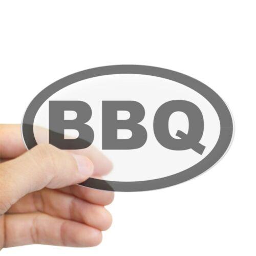 CafePress BBQ Oval Bumper Sticker 459158780 Euro Oval Car Decal