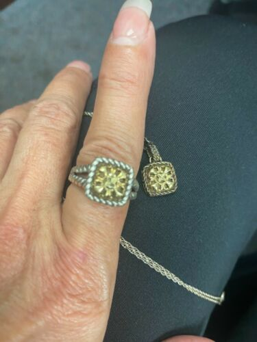 VINTAGE 10k GOLD AND 925 ring and NECKLACE