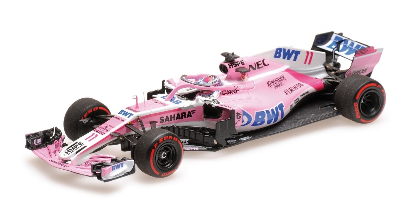 Sahara Force India Vjm11 Perez Azerbaijan Gp F1 2018 MINICHAMPS 1 43 417180411 M
