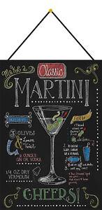 Martini-Cocktail-Recipe-Sign-with-Cord-Metal-Tin-7-7-8x11-13-16in-FA0322-K