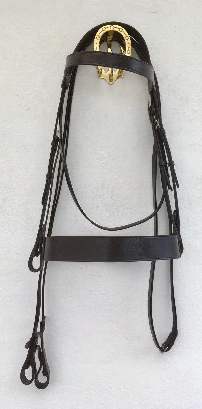 QUALITY HEAVY HORSE HUNTER BRIDLE WITH BILLETS AND REINS. (SHIRE CLYDESDALE ETC)