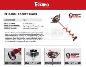 P1R10-ESKIMO-10-034-ROCKET-PROPANE-POWER-ICE-AUGER-WARRANTY-5-YEARS
