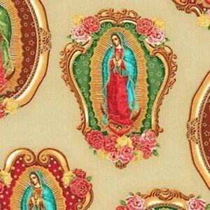 Kaufman-Inner-Faith-Virgin-de-Guadalupe-SRKM-15651-14-Natural-w-Gold-Met-BTY