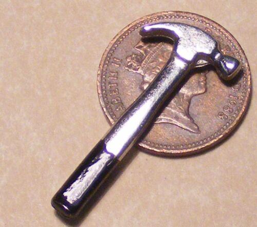 1:12 Scala Metallo Martello Carpentiere tumdee Casa delle Bambole Accessorio Capanno degli attrezzi