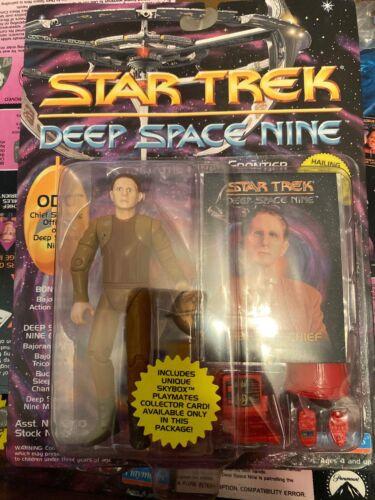 Playmates 1993 Star Trek Deep Space Nine chef de la sécurité ODO Action Figure Comme neuf on Card