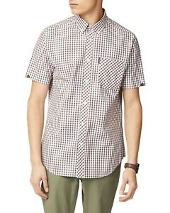 BEN-SHERMAN-034-HOUSE-034-SHORT-SLEEVE-SHIRT-RED-NEW-MOD-SKINHEAD-CASUAL