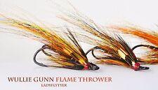3 x WULLIE GUNN FLAMETHROWERS size 10 salmon doubles Ladyflytyer