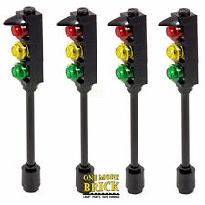 Traffic Lights for City Street / town / road - Pack of 4 | All parts LEGO
