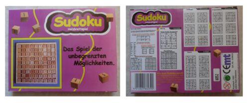 SUDOKU cm 17,8 x 17,8 Holzbrettspiel gioco matematico in legno