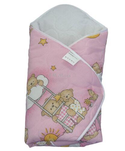 Einschlagdecke Babyhörnchen Babydecke Babynest Wickeldecke Decke Polycotton