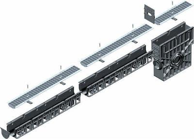 Hauraton Entwässerungssystem RecyFix Rinne Standard 100 Klasse B125 befahrbar